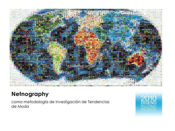 Netnography como metodología de investigación de Tendencias de Moda