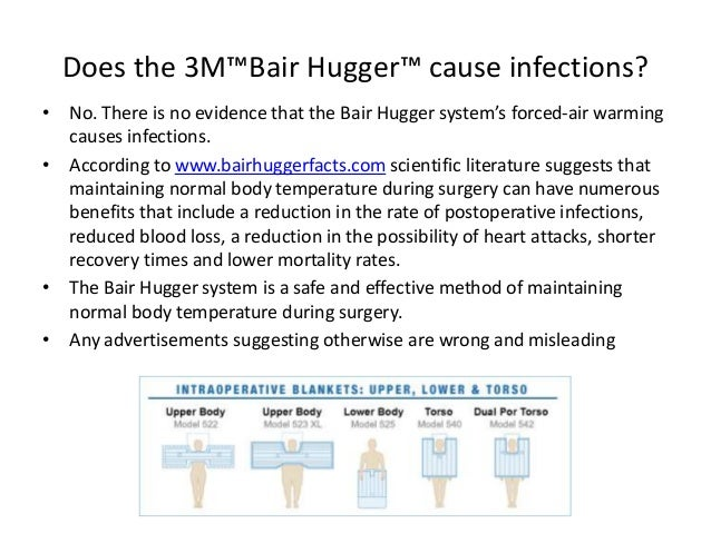 a report on the bair hugger system The truth the bair hugger is a warming device used to keep body temperatures from dropping dangerously low during surgery the three-part system stops the development of hypothermia, allows for a quicker recovery and helps prevent complications such as blood loss.