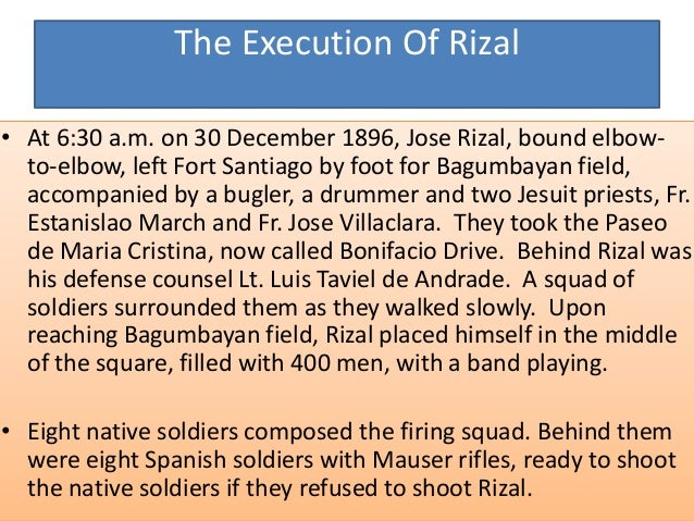 """• The order to fire was given. Before the shots rang out, Rizal shouted,""""Consumatum est!"""" (It is finished!). When the bull..."""