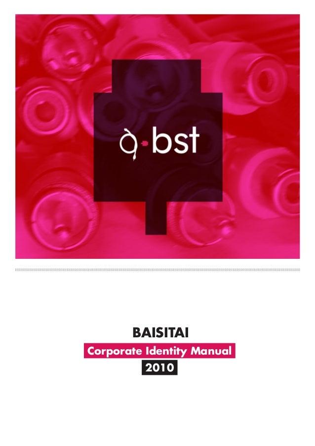 Corporate Identity Manual 2010 BAISITAI