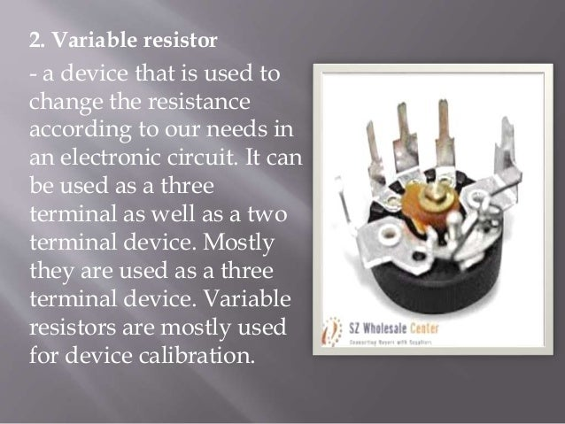 Resistors Types And Uses on Potentiometer Circuit With Resistor