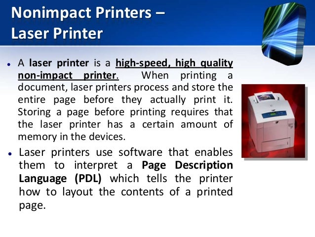 Non impact printer youtube.