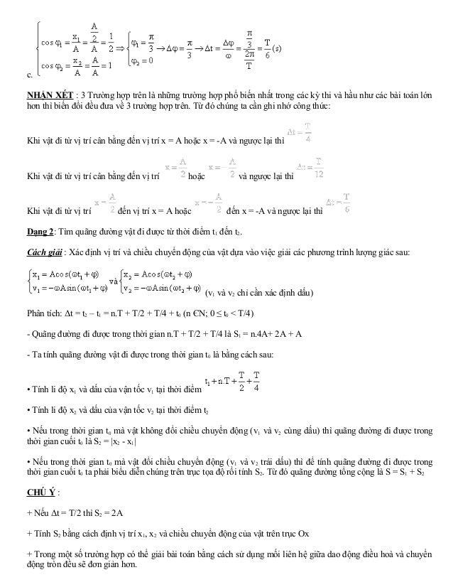 c.  NHẬN XÉT : 3 Trường hợp trên là những trường hợp phổ biến nhất trong các kỳ thi và hầu như các bài toán lớn  hơn thì b...