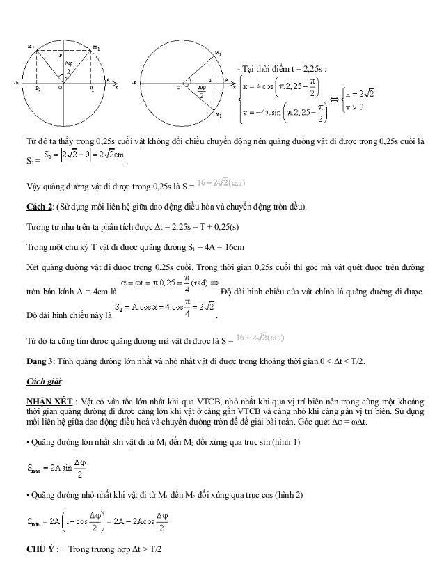 - Tại thời điểm t = 2,25s :  Từ đó ta thấy trong 0,25s cuối vật không đổi chiều chuyển động nên quãng đường vật đi được tr...