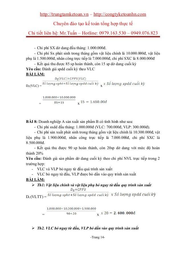 http://trungtamketoan.vn – http://congtyketoanhn.com Chuyên đào tạo kế toán tổng hợp thực tế Chi tiết liên hệ: Mr.Tuấn – H...