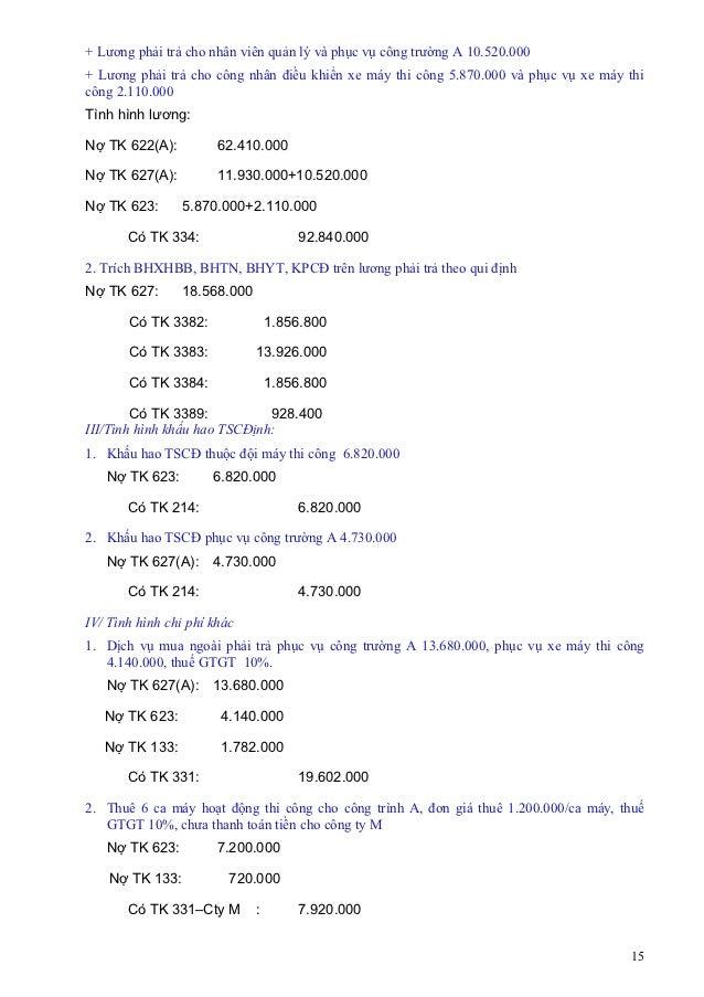 + Lương phải trả cho nhân viên quản lý và phục vụ công trường A 10.520.000+ Lương phải trả cho công nhân điều khiển xe máy...