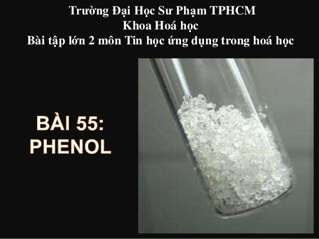 Trường Đại Học Sư Phạm TPHCM Khoa Hoá học Bài tập lớn 2 môn Tin học ứng dụng trong hoá học
