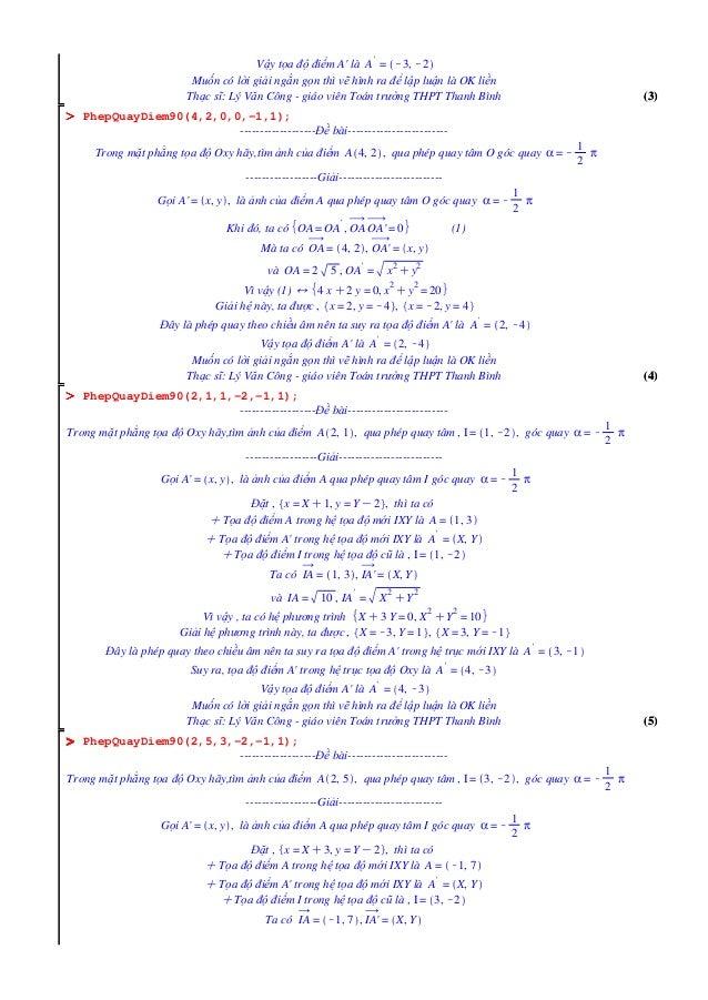 (4)(4) OOOOOOOO OOOOOOOO (3)(3) (5)(5) OOOOOOOO Vậy tọa độ điểm A' là A ' = K3, K2 Muốn có lời giải ngắn gọn thì vẽ hình r...