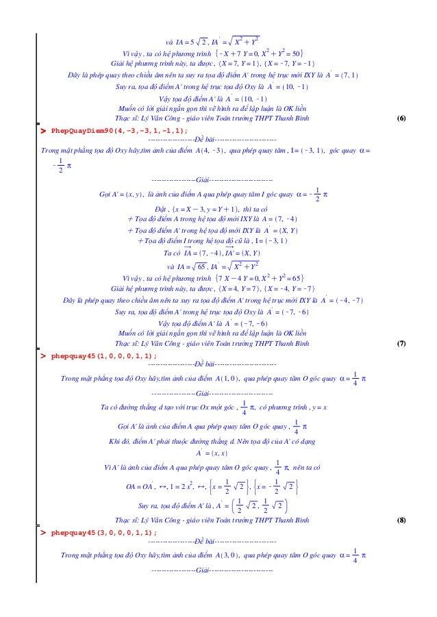(7)(7) OOOOOOOO OOOOOOOO OOOOOOOO (8)(8) (6)(6) và IA = 5 2 , IA ' = X 2 CY 2 Vì vậy , ta có hệ phương trình KXC7 Y = 0, X...