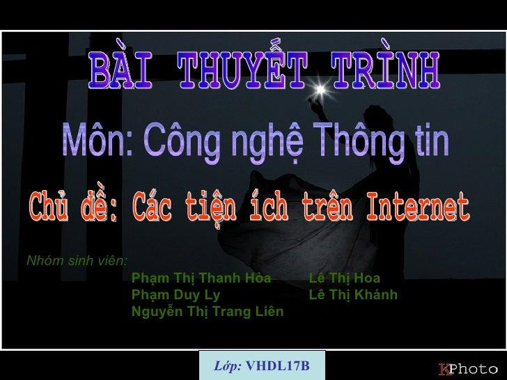 Nhóm sinh viên:                  Phạm Thị Thanh Hòa      Lê Thị Hoa                  Phạm Duy Ly             Lê Thị Khánh ...