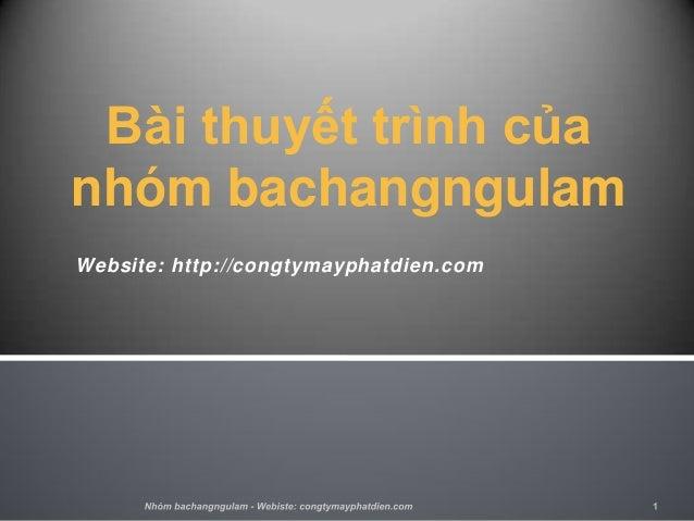 Bài thuyết trình củanhóm bachangngulamWebsite: http://congtymayphatdien.com