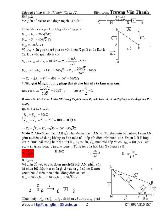 Bài toán hộp kín điện xoay chiều Slide 2