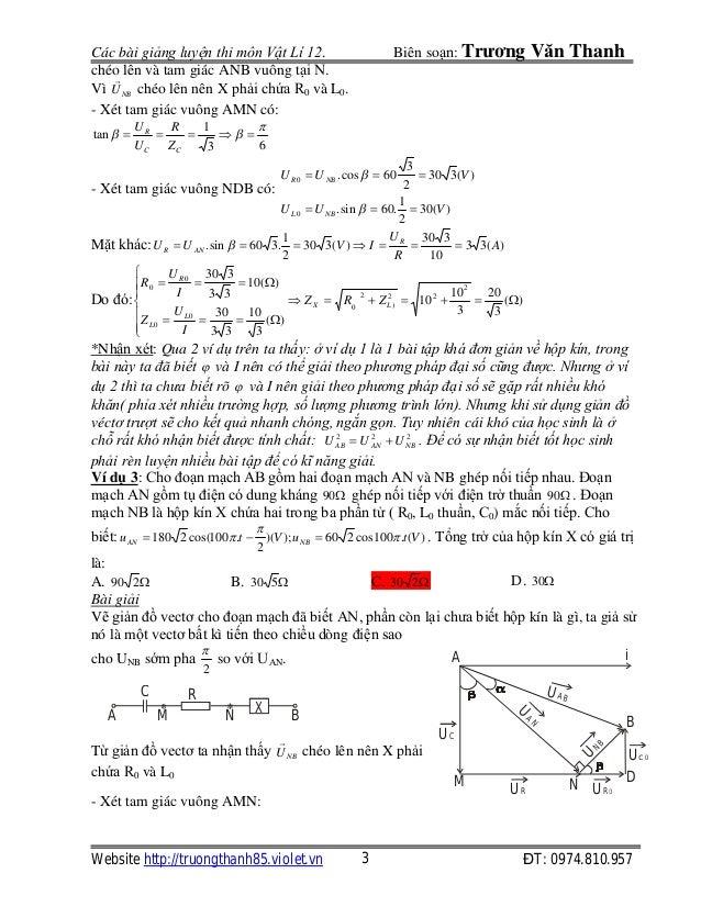 Bài toán hộp kín điện xoay chiều Slide 3