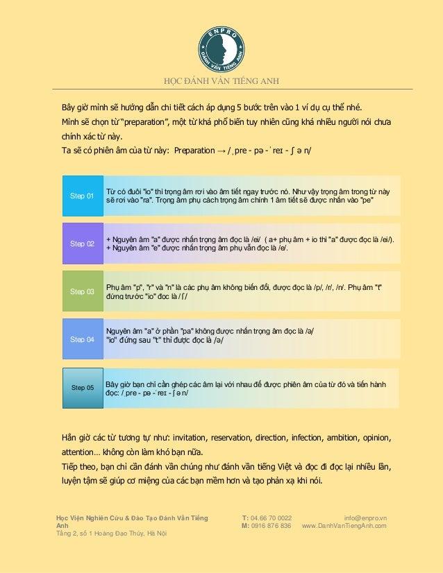 5 Chiêu Thức Giúp Viết Phiên Âm và Đọc Tất Cả Các Từ Slide 3