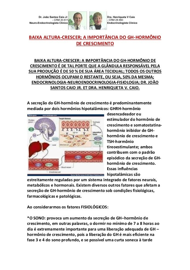 BAIXA ALTURA-CRESCER; A IMPORTÂNCIA DO GH-HORMÔNIO  DE CRESCIMENTO  BAIXA ALTURA-CRESCER; A IMPORTÂNCIA DO GH-HORMÔNIO DE ...