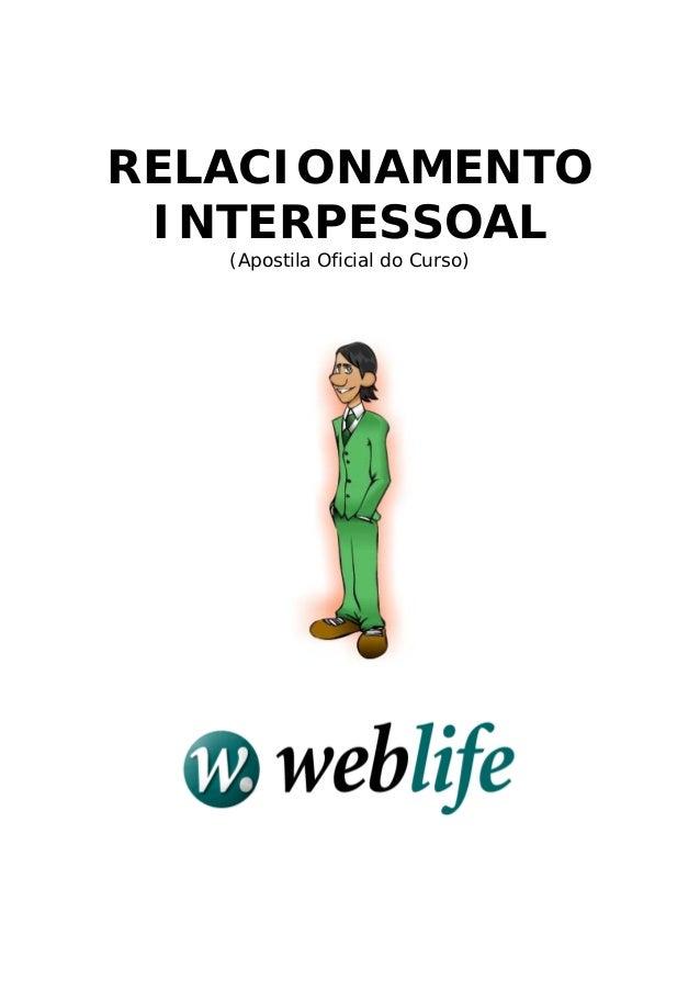 RELACIONAMENTO INTERPESSOAL (Apostila Oficial do Curso)