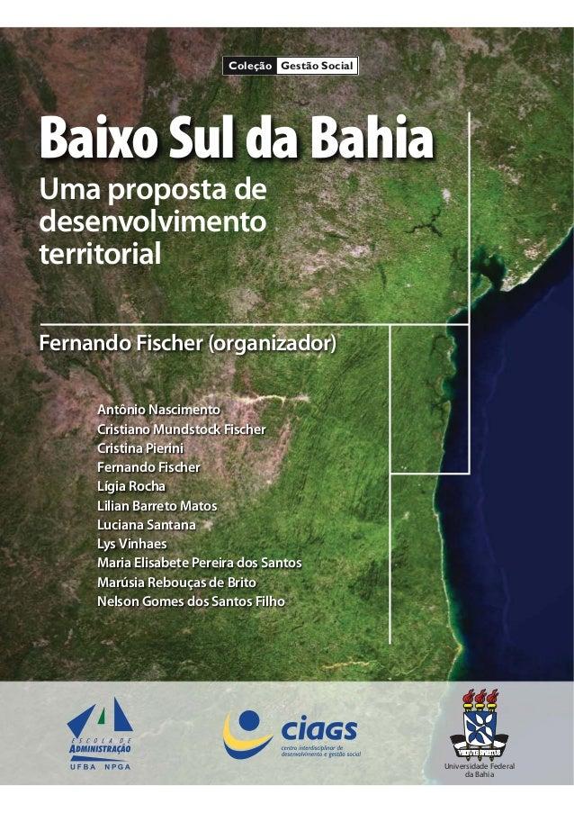 BaixoSuldaBahia Uma proposta de desenvolvimento territorial Fernando Fischer (organizador) Antônio Nascimento Cristiano Mu...