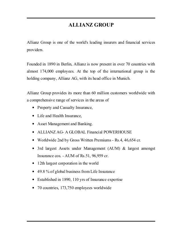 Bajaj Allianz Report