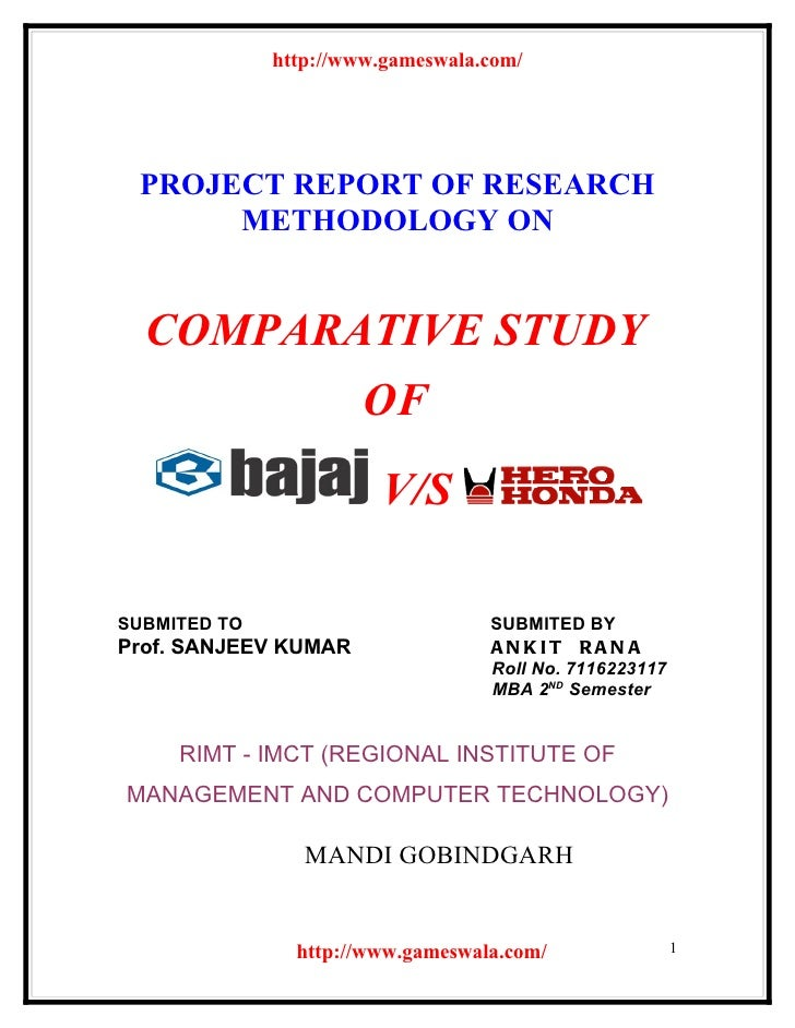 http://www.gameswala.com/ PROJECT REPORT OF RESEARCH      METHODOLOGY ON  COMPARATIVE STUDY         OF                    ...