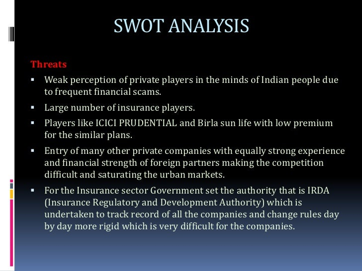 Swot analysis of sun life financial
