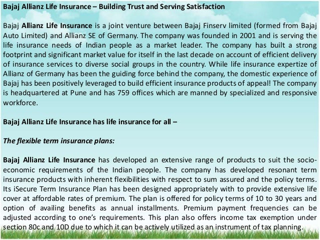 Bajaj Allianz Life Insurance