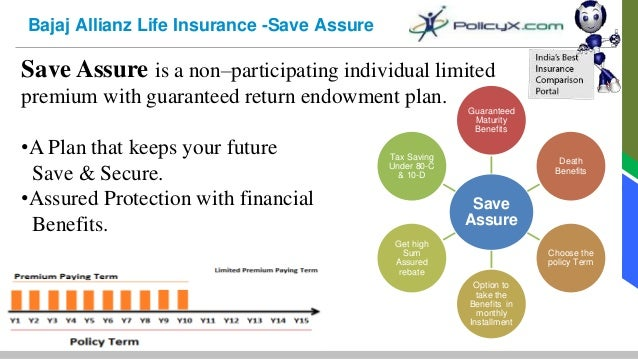 Bajaj Allianz | Endowment Plans | Savings Plan | PolicyX