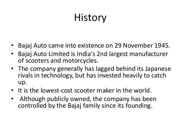 Bajaj Auto Limited SWOT Analysis, Competitors & USP