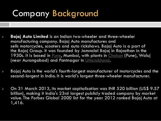 Bajaj Auto Co Introduction Slide 3