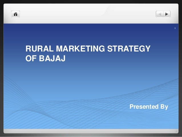 strategy of bajaj