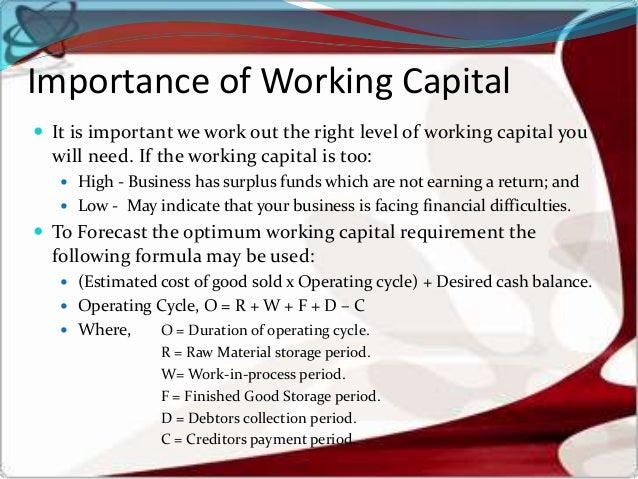 working capital case study Working capital management case study 2396 words | 10 pages with china in 1962 and pakistan 1965 and bad monsoon in almost all the years, meant the actual.