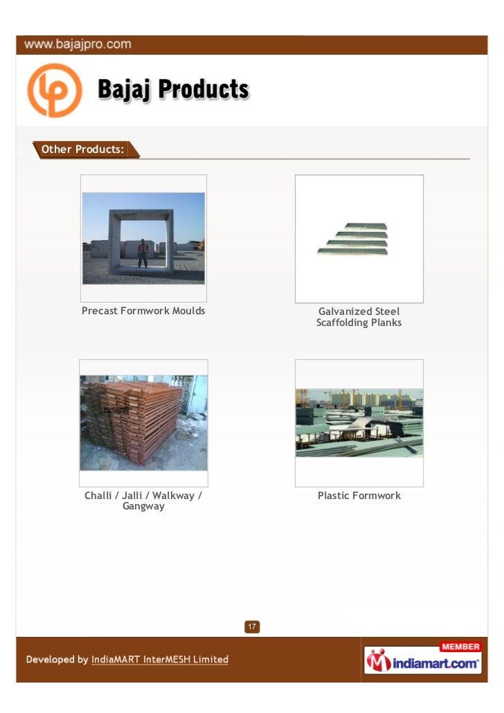 Bajaj Products, Delhi, Construction Support Equipment