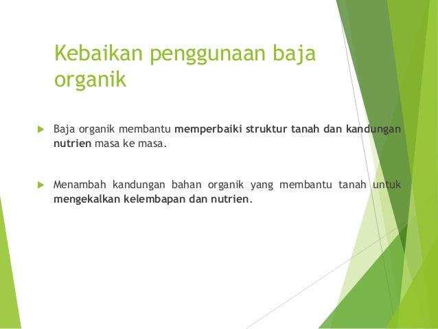 Spesifikasi Baja Organik :Malaysian Standard (MS 1517:2012) • Lebih 90% daripada jumlah saiz yang dinyatakanSaiz Partikel ...