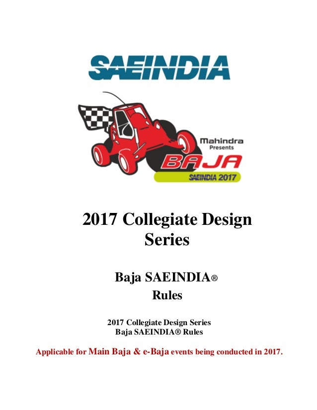 SAE BAJA 2013 RULEBOOK DOWNLOAD