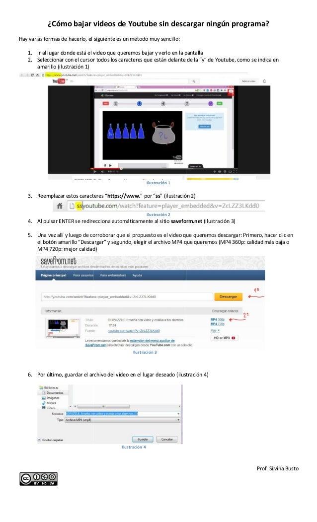 bajar videos desde youtube ss