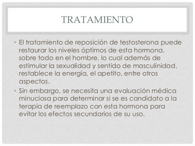 TRATAMIENTO • El tratamiento de reposición de testosterona puede restaurar los niveles óptimos de esta hormona, sobre todo...
