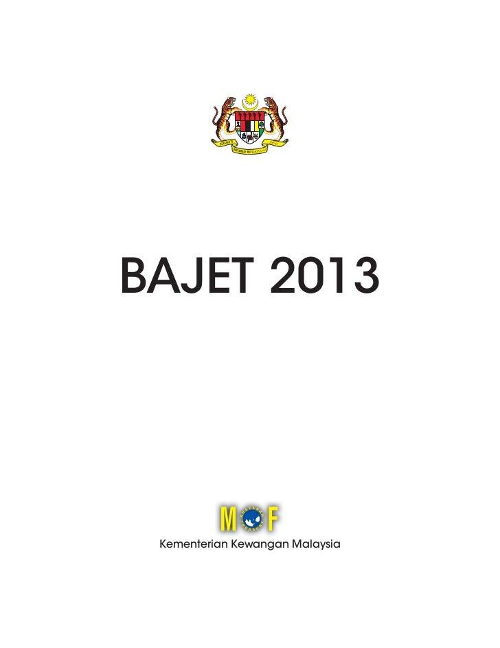 BAJET 2013 Kementerian Kewangan Malaysia
