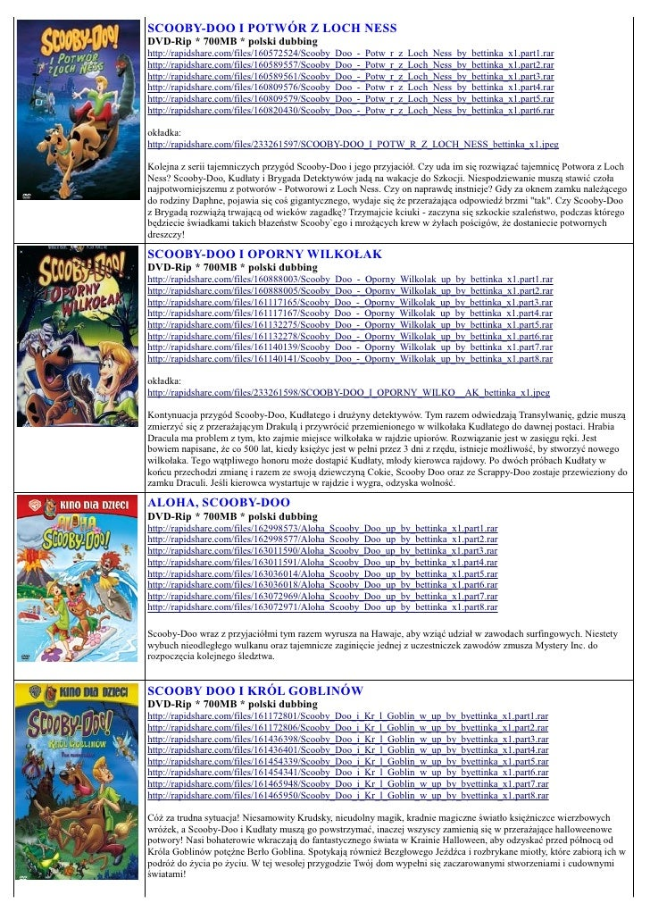 SCOOBY-DOO I POTWÓR Z LOCH NESS DVD-Rip * 700MB * polski dubbing http://rapidshare.com/files/160572524/Scooby_Doo_-_Potw_r...