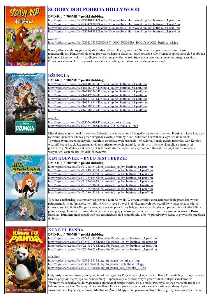 SCOOBY DOO PODBIJA HOLLYWOOD DVD-Rip * 700MB * polski dubbing http://rapidshare.com/files/232401514/Scooby_Doo_podbija_Hol...