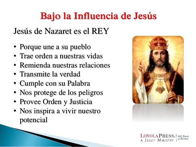 Jesús de Nazaret es el REY • Porque une a su pueblo • Trae orden a nuestras vidas • Remienda nuestras relaciones • Transmi...