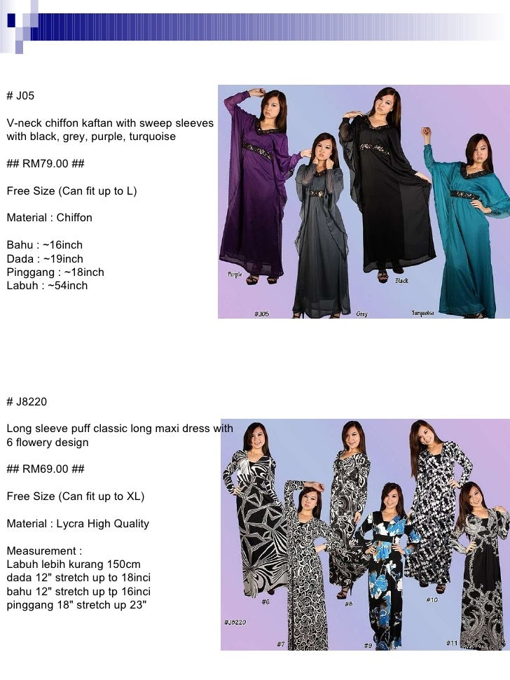 # J8220 Long sleeve puff classic long maxi dress with 6 flowery design ## RM69.00 ## Free Size (Can fit up to XL) Material...