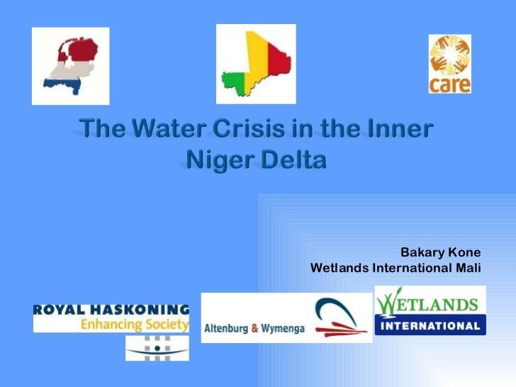 Bakary KoneWetlands International Mali