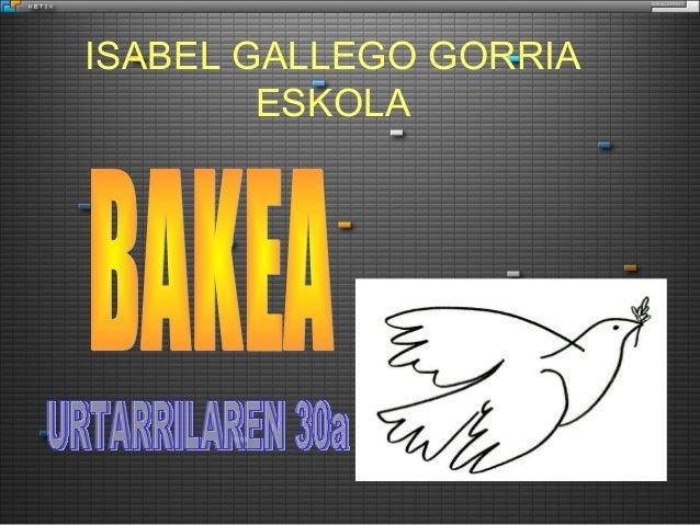 ISABEL GALLEGO GORRIA ESKOLA