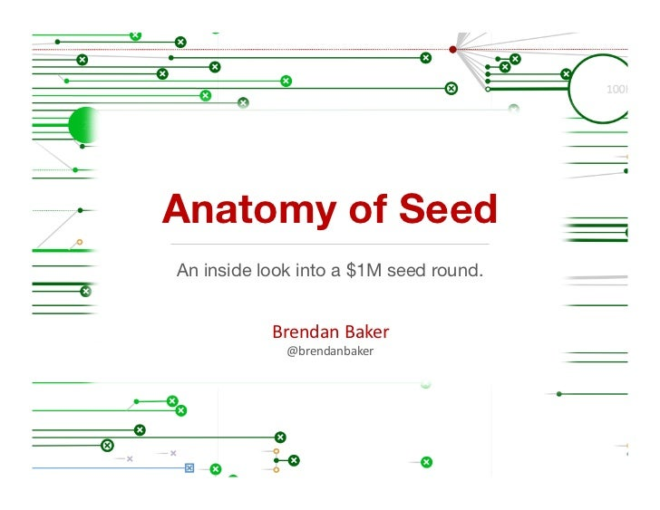 Anatomy of SeedAn inside look into a $1M seed round.           Brendan	  Baker	               @brendanbaker