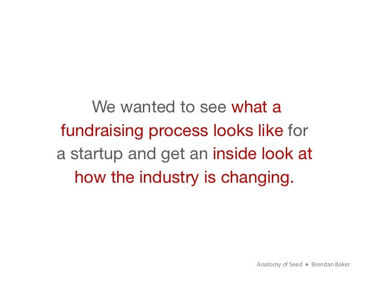 We wanted to see what afundraising process looks like fora startup and get an inside look at  how the industry is changing...