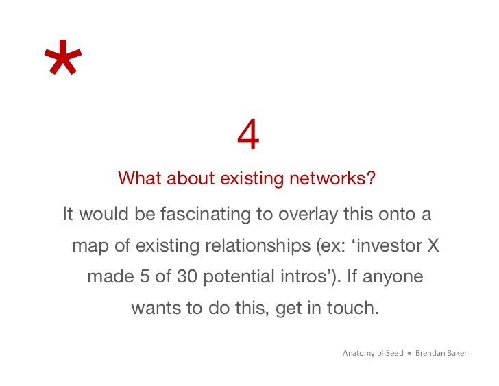 *                   4      What about existing networks?It would be fascinating to overlay this onto a map of existing rel...