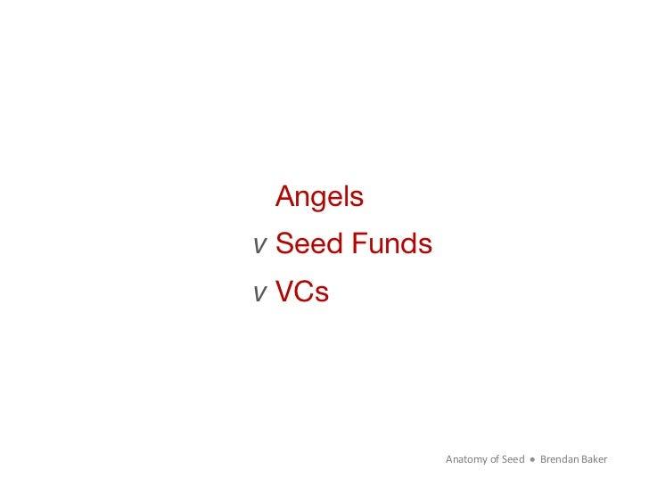 Angels v Seed Fundsv VCs                Anatomy of Seed      Brendan Baker