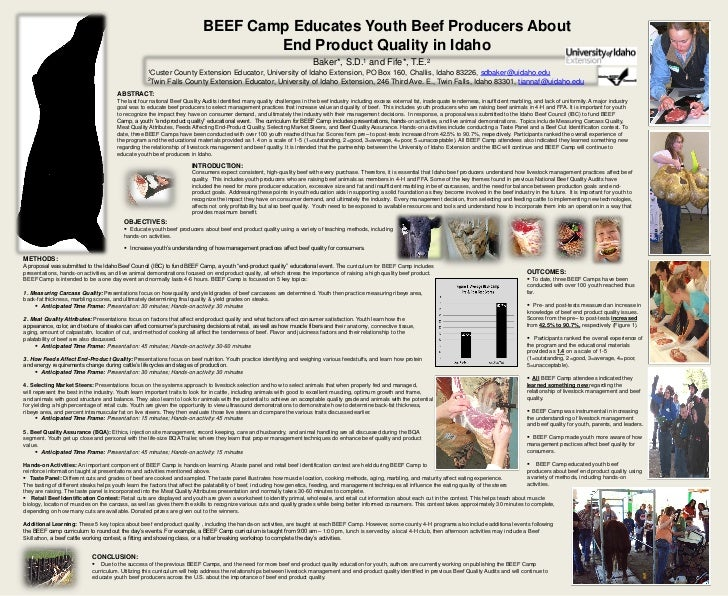 BEEF Camp Educates Youth Beef Producers About                                                                             ...