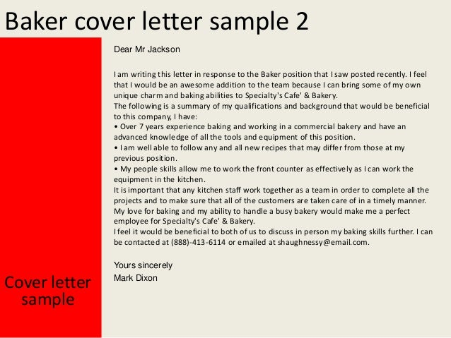 Baker cover letter yours sincerely mark dixon cover letter sample 3 spiritdancerdesigns