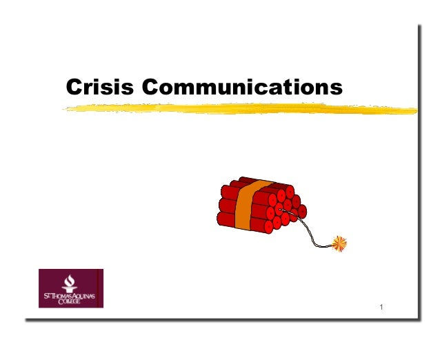 Crisis Communications                        1