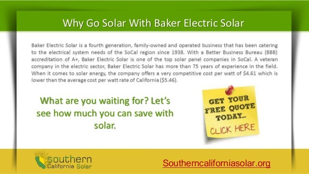 Baker Electric Solar Company Review Go Green And Save
